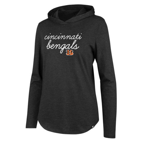 Cincinnati Bengals '47 Brand Ladies Black Script Club Hood