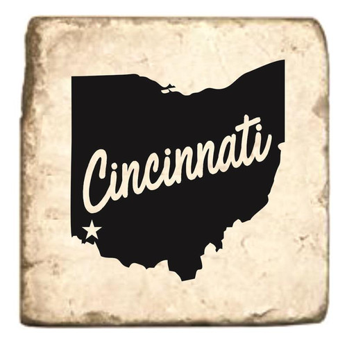 Cincinnati State of Ohio Marble Coaster