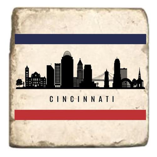 Cincinnati Skyline Marble Coaster