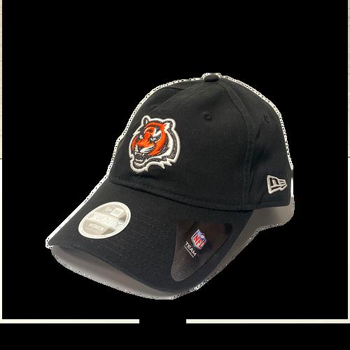 Ladies New Era Black Cincinnati Bengals Glitter Logo 9Twenty Adjustable Hat