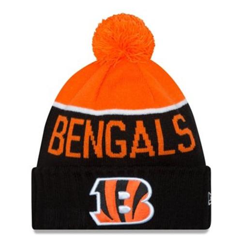 Cincinnati Bengals New Era Black 2015 On-Field Sport Knit Hat with Pom
