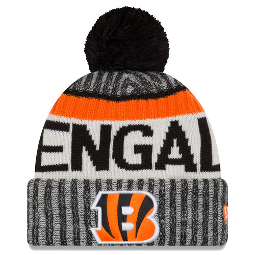 New Era Black Cincinnati Bengals 2017 Sideline Official Sport Knit Hat