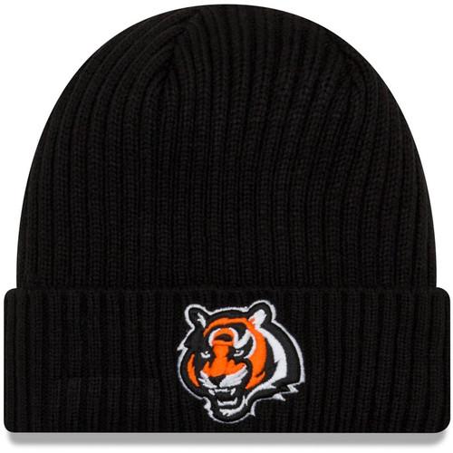 New Era Black Cincinnati Bengals Team Core Classic Cuffed Knit Hat