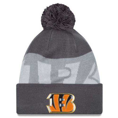 Cincinnati Bengals New Era Graphite/Gray Gold Collection Knit Hat