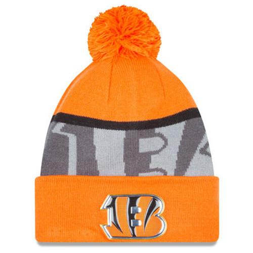 Cincinnati Bengals New Era Orange/Graphite Gold Collection Team Color Knit Hat