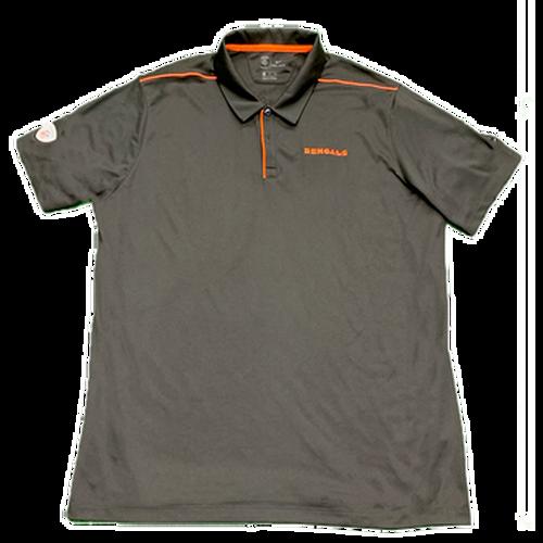 Men's Black Cincinnati Bengals Training Camp Official Equipment Polo Shirt