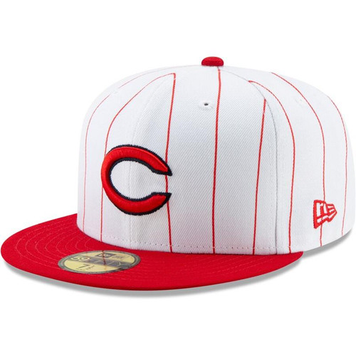 Cincinnati Reds New Era White/Red 1961 150th Anniversary Turn Back the Clock 59FIFTY Fitted Hat