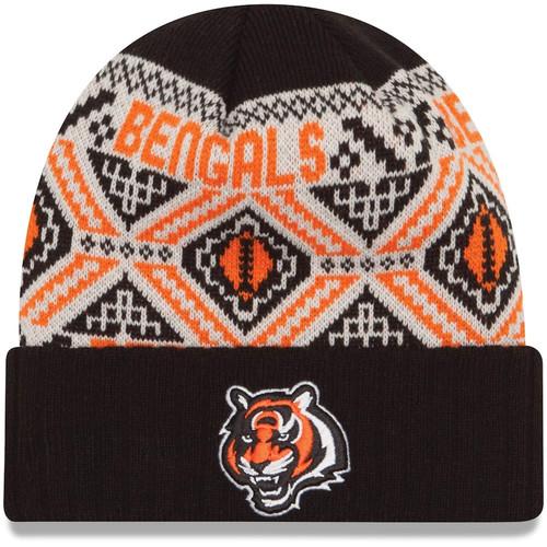 New Era Black Cincinnati Bengals Cozy Cuffed Knit Hat