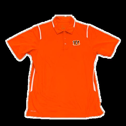 Men's Orange Cincinnati Bengals Dri-Fit Performance Polo