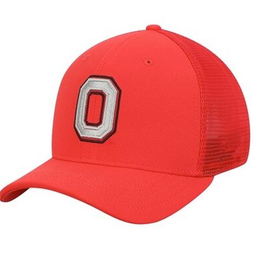 Ohio State Buckeyes Performance Meshback Swoosh Flex Hat - Scarlet