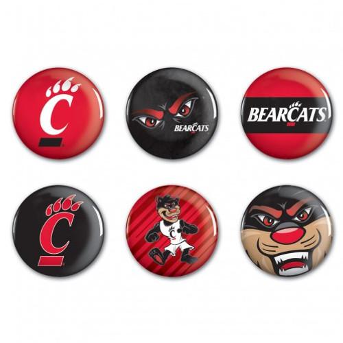 Cincinnati Bearcats Button 6 Pack
