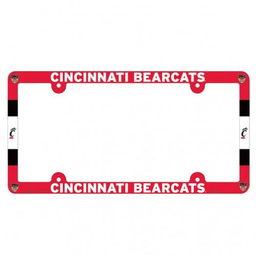 Cincinnati Bearcats Plastic License Plate Frame