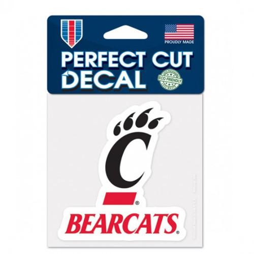 "Cincinnati Bearcats 4""x4"" Perfect Cut Decal"