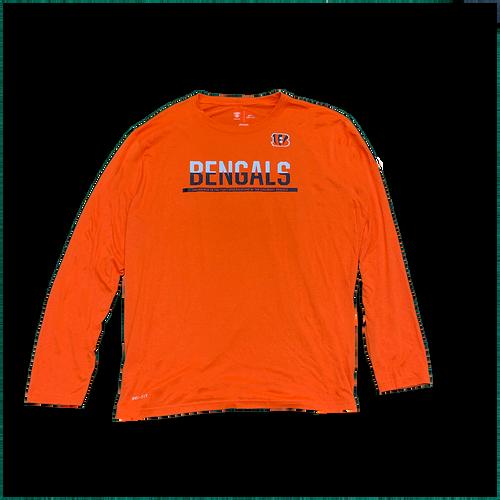 Men's Orange Cincinnati Bengals Training Camp Official Equipment Dri-Fit Long Sleeve T-Shirt