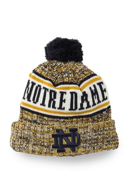 Notre Dame New Era Pompom Knit Hat