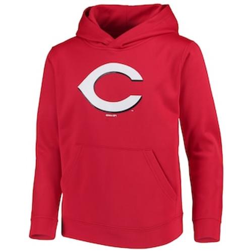 Youth Cincinnati Reds Red Logo Pullover Hoodie