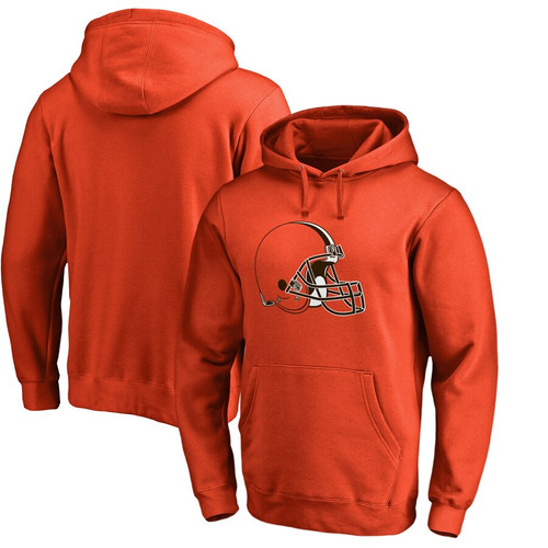 Men's Cleveland Browns Orange Club Fleece Pullover Hoodie