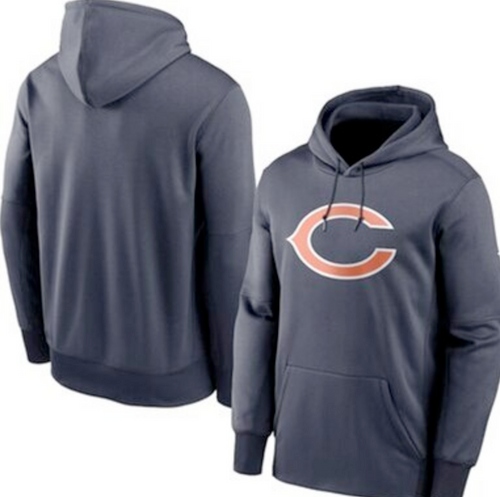 Men's Chicago Bears Navy Club Fleece Pullover Hoodie