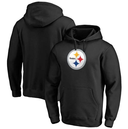 Men's Pittsburgh Steelers Black Club Fleece Pullover Hoodie