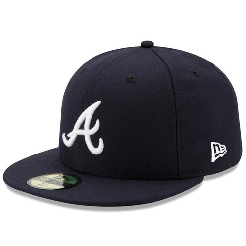 Atlanta Braves New Era Navy Road Authentic Collection On-Field 59FIFTY Fitted Hat