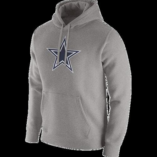 Men's Dallas Cowboys Heathered Grey Dri-Fit Fleece Pullover Hoodie