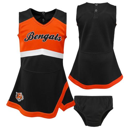Cincinnati Bengals Girls Infant Cheer Captain Jumper Dress