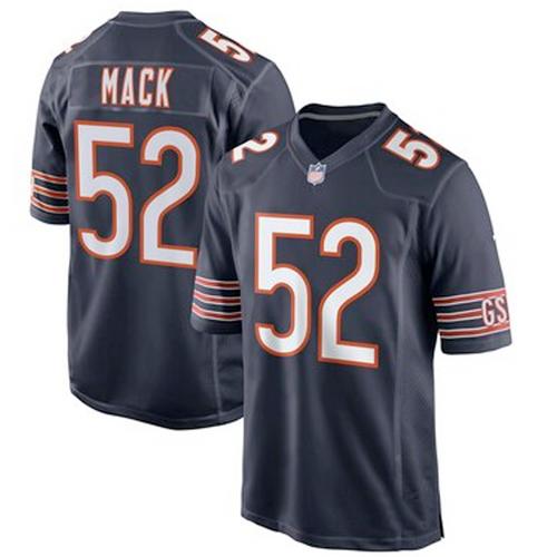Men's Chicago Bears Khalil Mack Navy Game Player Jersey
