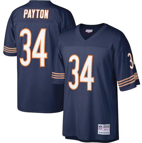 Men's Chicago Bears Walter Payton Navy Game Player Jersey