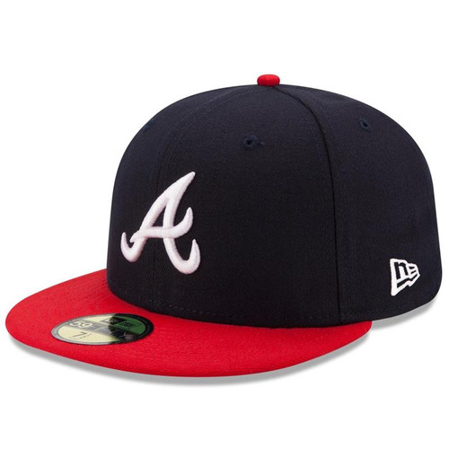 Atlanta Braves New Era Navy/Red Home Authentic Collection On-Field 59FIFTY Fitted Hat