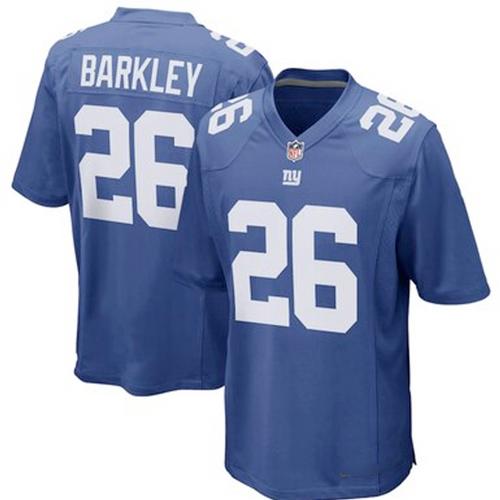 Men's New York Giants Saquon Barkley Royal Blue Game Player Jersey