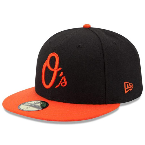 Baltimore Orioles New Era Black/Orange Alternate Authentic Collection On-Field 59FIFTY Performance Fitted Hat
