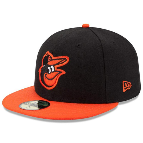 Baltimore Orioles New Era Black/Orange Road Authentic Collection On-Field 59FIFTY Fitted Hat
