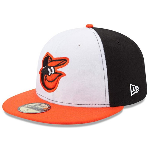 Baltimore Orioles New Era White/Orange Home Authentic Collection On-Field 59FIFTY Fitted Hat