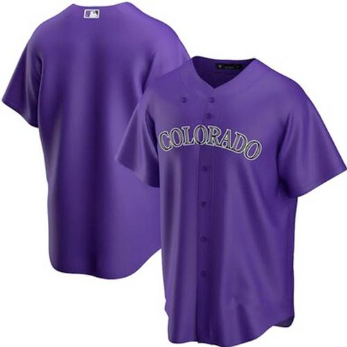 Men's Colorado Rockies Purple Alternate 2020 Replica Team Jersey