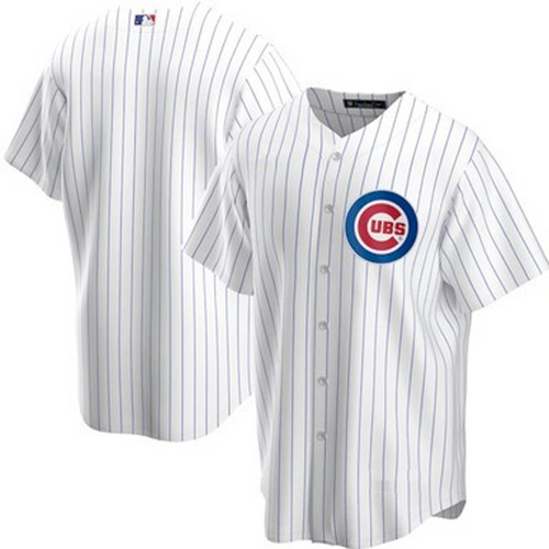 Men's Chicago Cubs White Home 2020 Replica Team Jersey