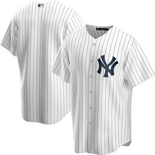 Men's New York Yankees White Home 2020 Replica Team Jersey