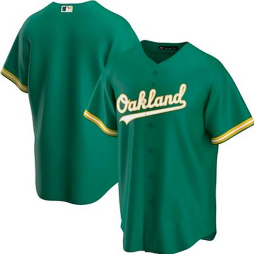 Men's Oakland Athletics Kelly Green Alternate 2020 Replica Team Jersey