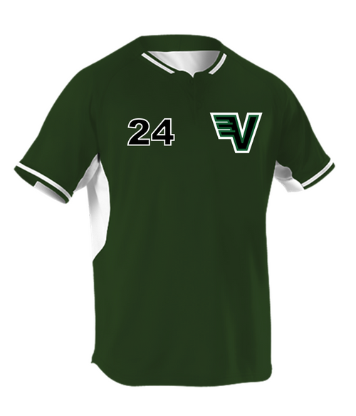 Alleson 2 Button 524PD Stitched Baseball Jersey