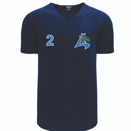Athletic Knit Full Button BA5200 Stitched Jersey