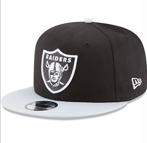 New Era Oakland Raiders Black Basic 9FIFTY Mens Snapback Hat