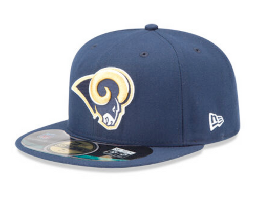 New Era Los Angeles Rams Navy Sideline Onfield NETECH Fitted 59Fifty
