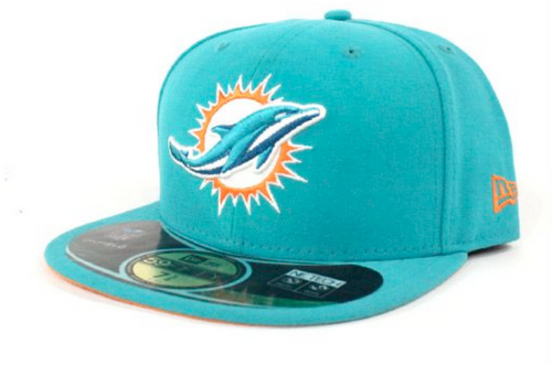New Era Miami Dolphins Aqua Sideline NETECH 59Fifty Fitted Hat