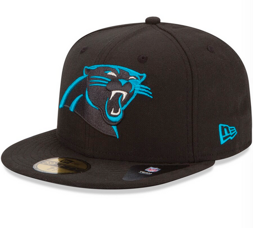 New Era Carolina Panthers Black Team 59Fifty Fitted Hat