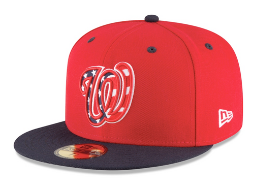 Men's Washington Nationals New Era Red/Navy Alternate Authentic Collection On-Field 59FIFTY Fitted Hat