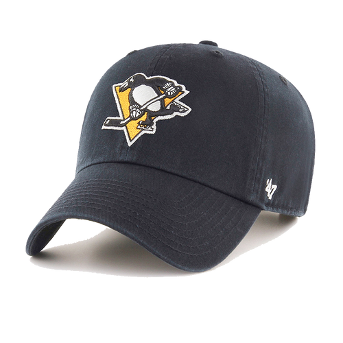 47' Brand Pittsburgh Penguins Black Cleanup Adjustable Hat