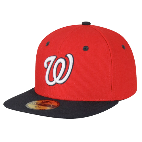 New Era Washington Nationals Red/Navy Alt 2 On-Field 59Fifty Fitted Hat