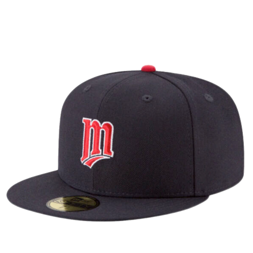 New Era Minnesota Twins Navy Alternate On-Field 59Fifty Fitted Hat