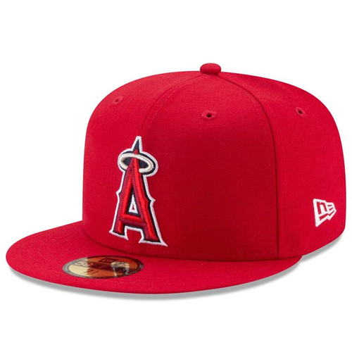 Los Angeles Angels New Era Red Game Authentic Collection On-Field 59FIFTY Fitted Hat