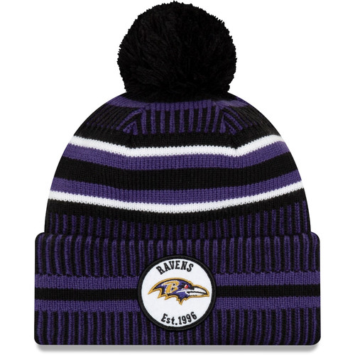 Baltimore Ravens New Era 2019 Sideline Knit Hat