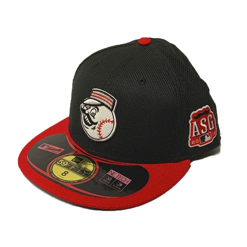 New Era Cincinnati Reds Black/Red ASG Patch 2015 Diamond Era Authentic On-Field 59Fifty Fitted Hat